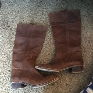 Lucky Brand Knee High Brown Leather Boots